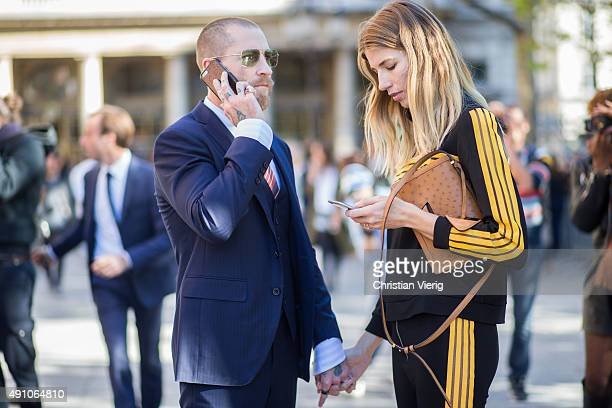 Justin O'Shea and Veronika Heilbrunner during the Paris Fashion Week Womenswear Spring/Summer 2016 on October 2 2015 in Paris France