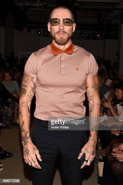 Justin O'Shea attends Derek Lam Spring 2016 during New York Fashion Week The Shows at The Gallery Skylight at Clarkson Sq on September 13 2015 in New...
