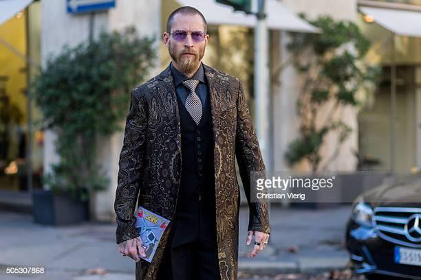Justin O'Shea during Milan Men's Fashion Week Fall/Winter 2016/17 on January 16 in Milam Italy