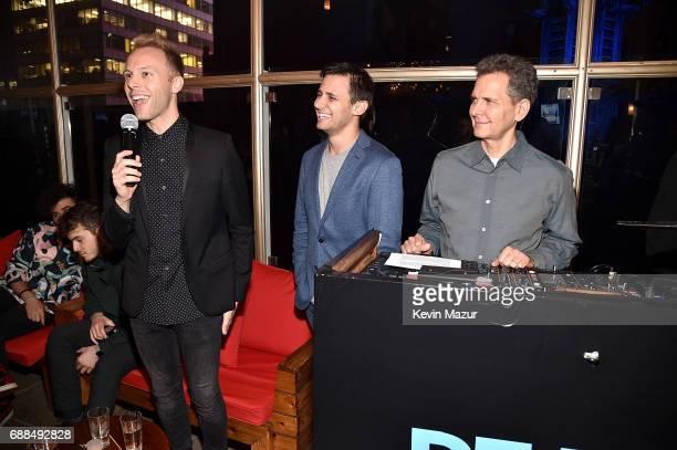 Justin Paul music and lyrics Ben Pasek music and lyrics and Craig Kallman Chairman/CEO Atlantic Records attend Atlantic Records celebration of Alex...