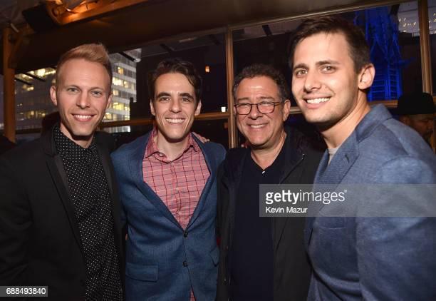 Justin Paul music and lyrics Steven Levenson Michael Greif and Ben Pasek music and lyrics attend Atlantic Records celebration of Alex Lacamoire Benj...
