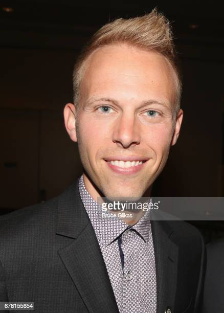 Justin Paul poses at The 71st Annual Tony Awards Meet the Nominees Press Junket at Sofitel Hotel on May 3 2017 in New York City