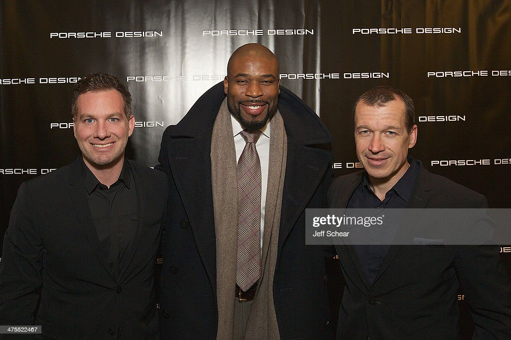 Justin Pauly Professional football player Israel Idonije and CEO of Porsche Design Group Juergen Gessler attend Michigan Avenue Magazine Celebrates...