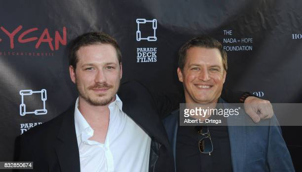 "Justin Pelsey and Jason Pelsey arrive for the Premiere Of Parade Deck's ""Lycan"" held at Laemmle's Ahrya Fine Arts Theatre on August 15 2017 in..."