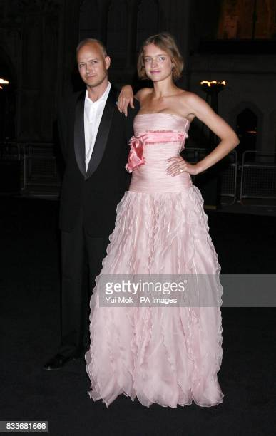 Justin Portman and Natalia Vodianova arrive for The Diner Des Tsars gala evening at the Guildhall in central London