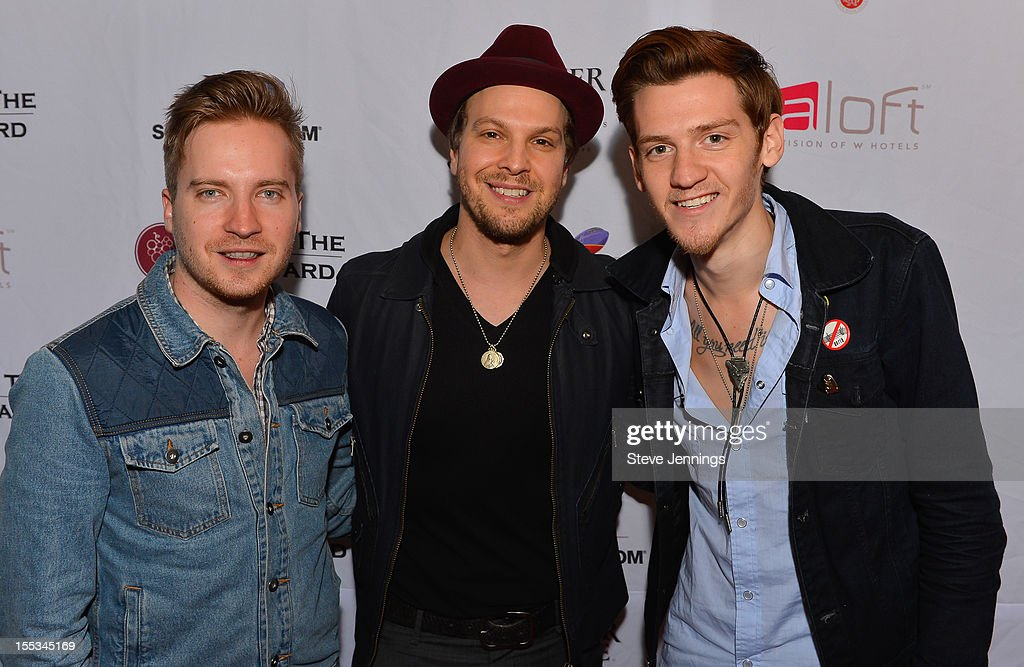 Justin Richards, <a gi-track='captionPersonalityLinkClicked' href=/galleries/search?phrase=Gavin+DeGraw&family=editorial&specificpeople=203282 ng-click='$event.stopPropagation()'>Gavin DeGraw</a> and Nick Santino (L-R) attend Live In The Vineyard at the Westin Verasa on November 2, 2012 in Napa, California.