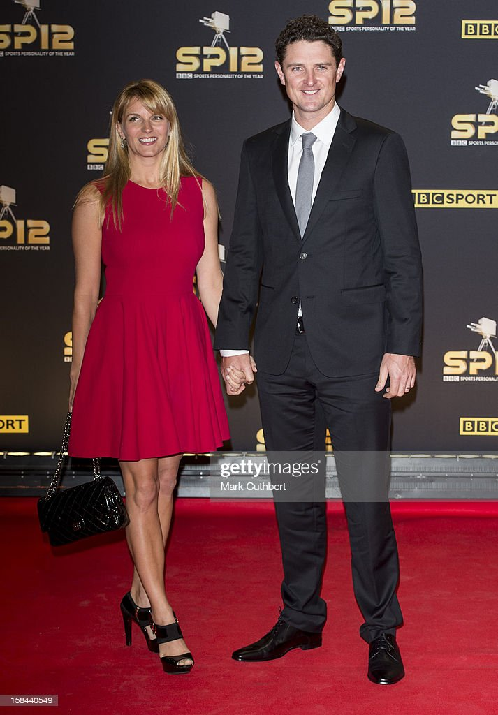 Justin Rose and Kate Rose attend the BBC Sports Personality Of The Year Awards at ExCel on December 16, 2012 in London, England.