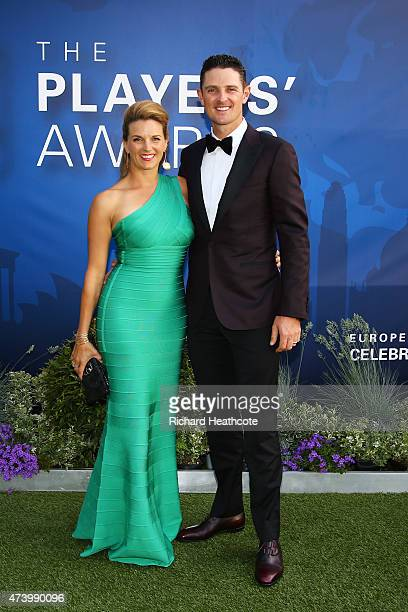 Justin Rose of England and his wife Kate attend the European Tour Players' Awards ahead of the BMW PGA Championship at the Sofitel London Heathrow on...