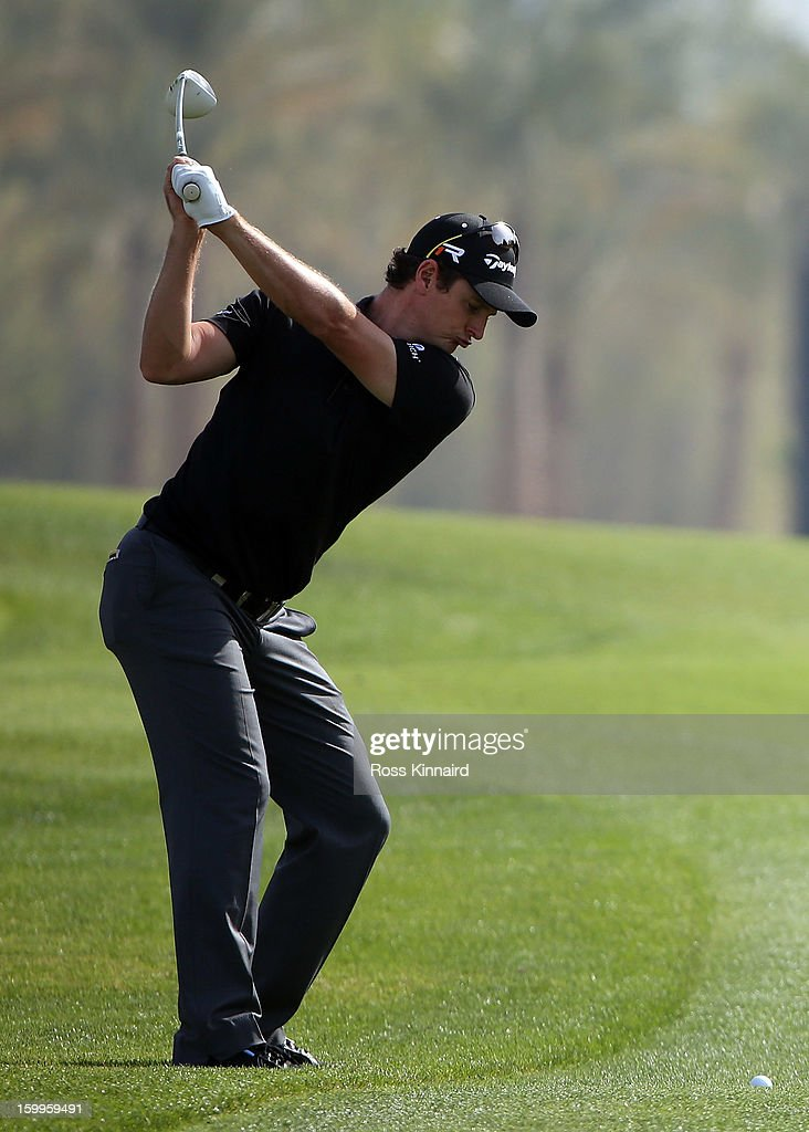 Justin Rose of England during the second round of the Commercial Bank Qatar Masters at The Doha Golf Club on January 24, 2013 in Doha, Qatar.