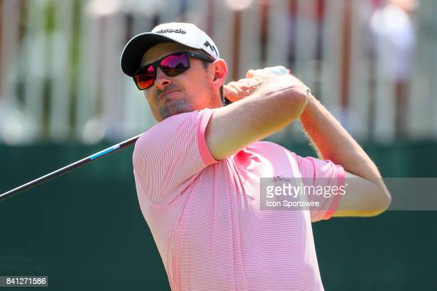 Justin Rose of England during the third round of The Northern Trust PGA Golf Tournament on August 26 2017 at Glen Oaks Club in Old Westbury NY