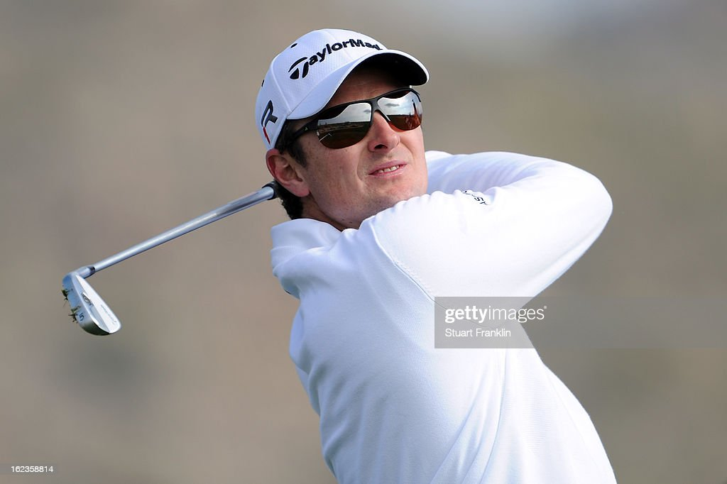 Justin Rose of ENgland hits his tee shot on the third hole during the second round of the World Golf Championships - Accenture Match Play at the Golf Club at Dove Mountain on February 22, 2013 in Marana, Arizona.