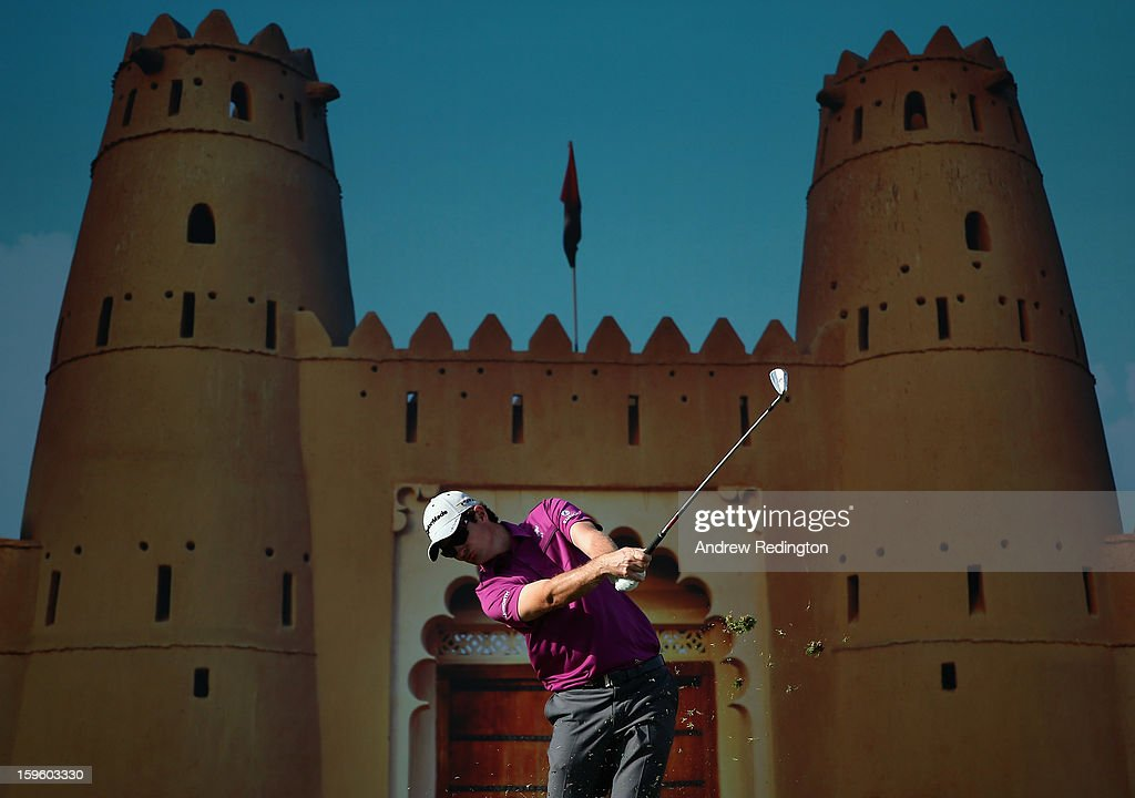 <a gi-track='captionPersonalityLinkClicked' href=/galleries/search?phrase=Justin+Rose&family=editorial&specificpeople=171559 ng-click='$event.stopPropagation()'>Justin Rose</a> of England hits his tee-shot on the 15th hole during the first round of The Abu Dhabi HSBC Golf Championship at Abu Dhabi Golf Club on January 17, 2013 in Abu Dhabi, United Arab Emirates.