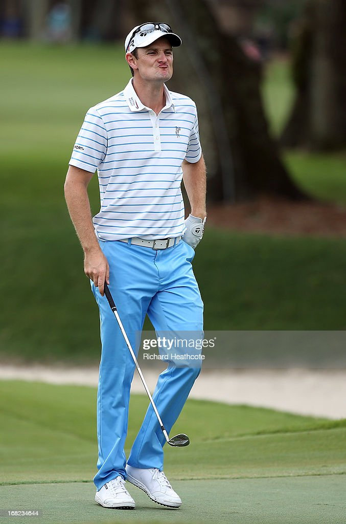 Justin Rose of England in action during a practise round for THE PLAYERS Championship at TPC Sawgrass on May 7, 2013 in Ponte Vedra Beach, Florida.
