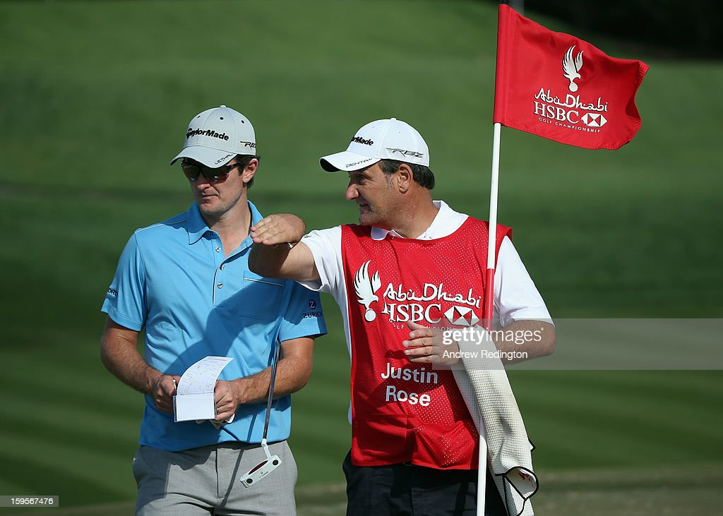 <a gi-track='captionPersonalityLinkClicked' href=/galleries/search?phrase=Justin+Rose&family=editorial&specificpeople=171559 ng-click='$event.stopPropagation()'>Justin Rose</a> of England in action during the Pro Am prior to the start of The Abu Dhabi HSBC Golf Championship at Abu Dhabi Golf Club on January 16, 2013 in Abu Dhabi, United Arab Emirates.