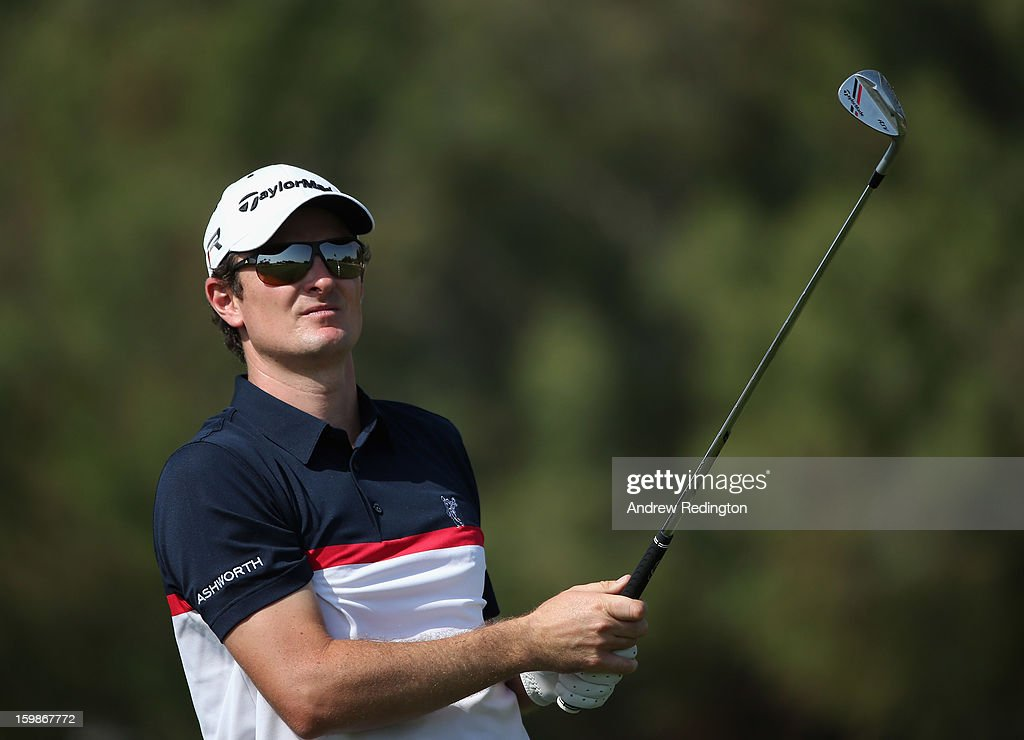 <a gi-track='captionPersonalityLinkClicked' href=/galleries/search?phrase=Justin+Rose&family=editorial&specificpeople=171559 ng-click='$event.stopPropagation()'>Justin Rose</a> of England in action during the Pro Am prior to the start of the Commercial Bank Qatar Masters held at Doha Golf Club on January 22, 2013 in Doha, Qatar.