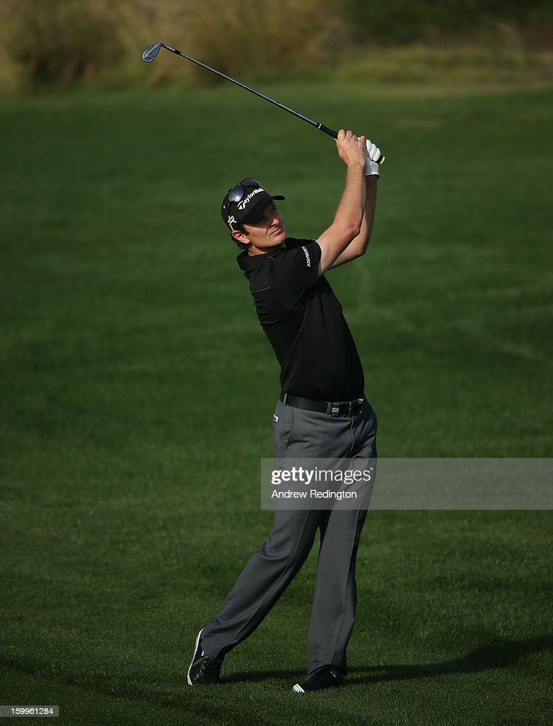 Justin Rose of England in action during the second round of the Commercial Bank Qatar Masters held at Doha Golf Club on January 24, 2013 in Doha, Qatar.