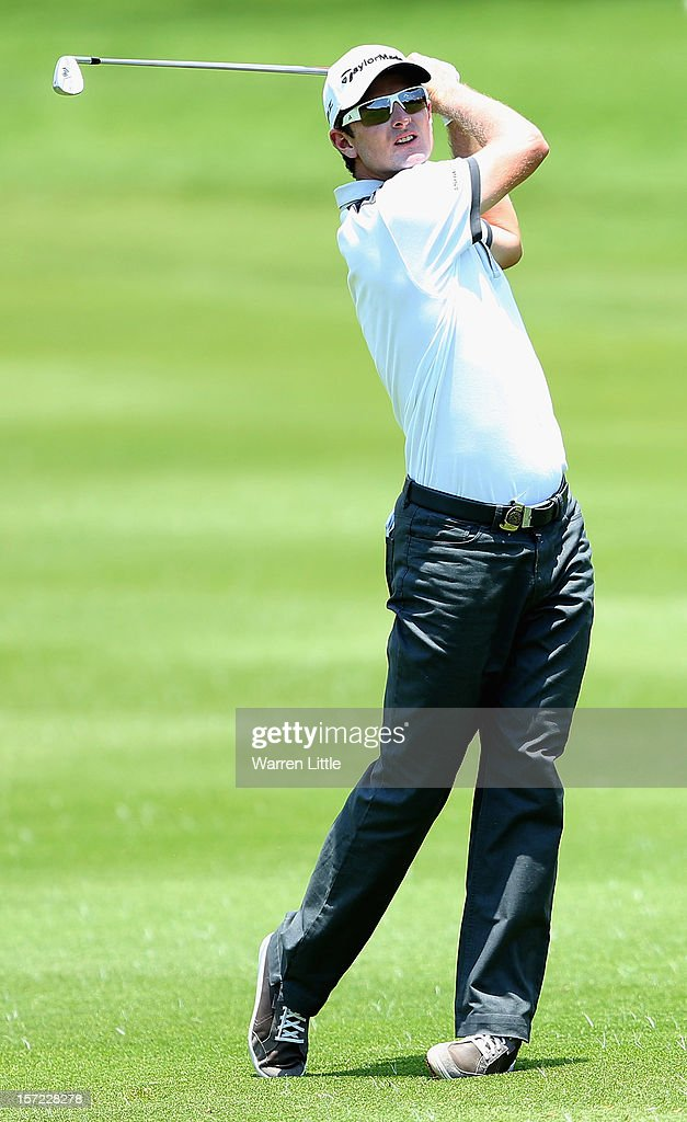 <a gi-track='captionPersonalityLinkClicked' href=/galleries/search?phrase=Justin+Rose&family=editorial&specificpeople=171559 ng-click='$event.stopPropagation()'>Justin Rose</a> of England in action during the second round of the Nedbank Golf Challenge at the Gary Player Country Club on November 30, 2012 in Sun City, South Africa.