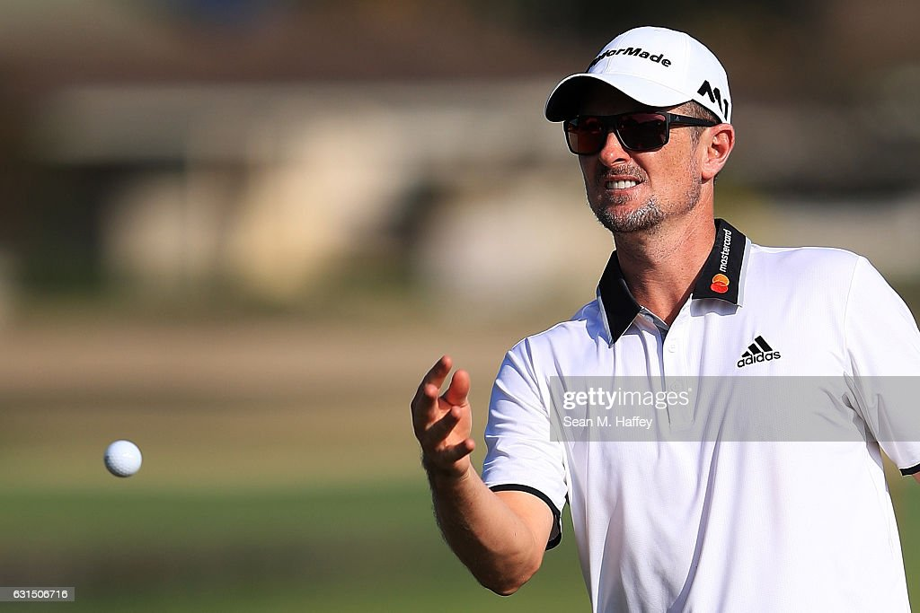 Justin Rose of England looks on during the Pro-Am Tounament prior to the Sony Open In Hawaii at Waialae Country Club on January 11, 2017 in Honolulu, Hawaii.