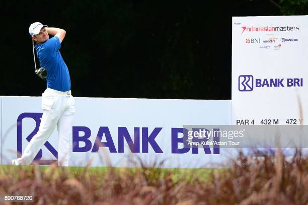 Justin Rose of England pictured during the Pro Am tournament ahead of the Indonesian Masters 2017 at Royale Jakarta Golf Club on December 12 2017 in...