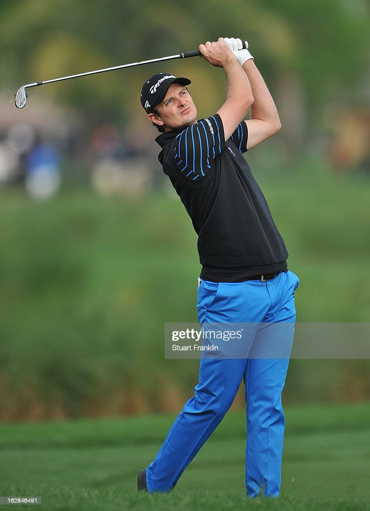 Justin Rose of England plays a shot 13th hole during the first round of the Honda Classic on February 28, 2013 in Palm Beach Gardens, Florida.