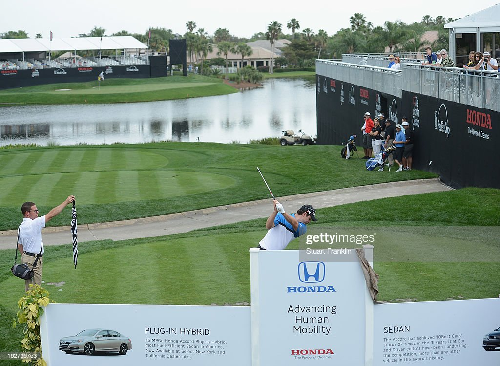 Justin Rose of England plays a shot during the pro am of the Honda Classic at PGA National on February, 2013 in Palm Beach Gardens, Florida