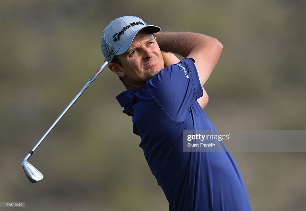 Justin Rose of England plays a shot on the 16th hole during the second round of the World Golf Championships - Accenture Match Play Championship at The Golf Club at Dove Mountain on February 20, 2014 in Marana, Arizona.