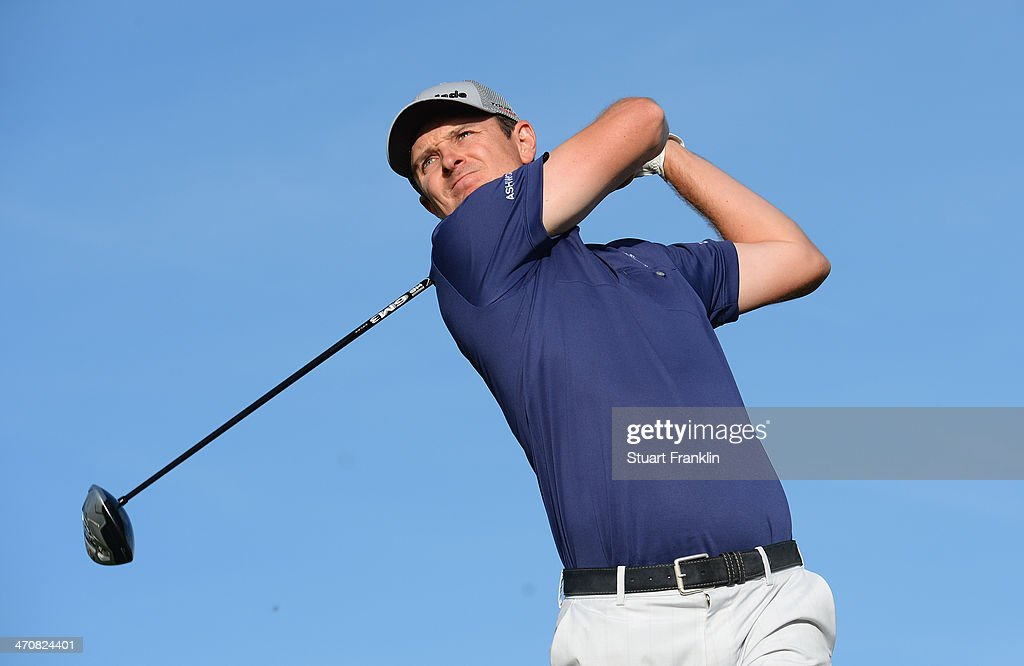 Justin Rose of England plays a shot on the second hole during the second round of the World Golf Championships - Accenture Match Play Championship at The Golf Club at Dove Mountain on February 20, 2014 in Marana, Arizona.