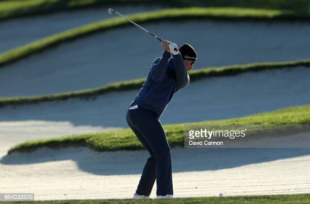 Justin Rose of England plays his second shot on the par 4 11th hole during the first round of the 2017 Arnold Palmer Invitational presented by...