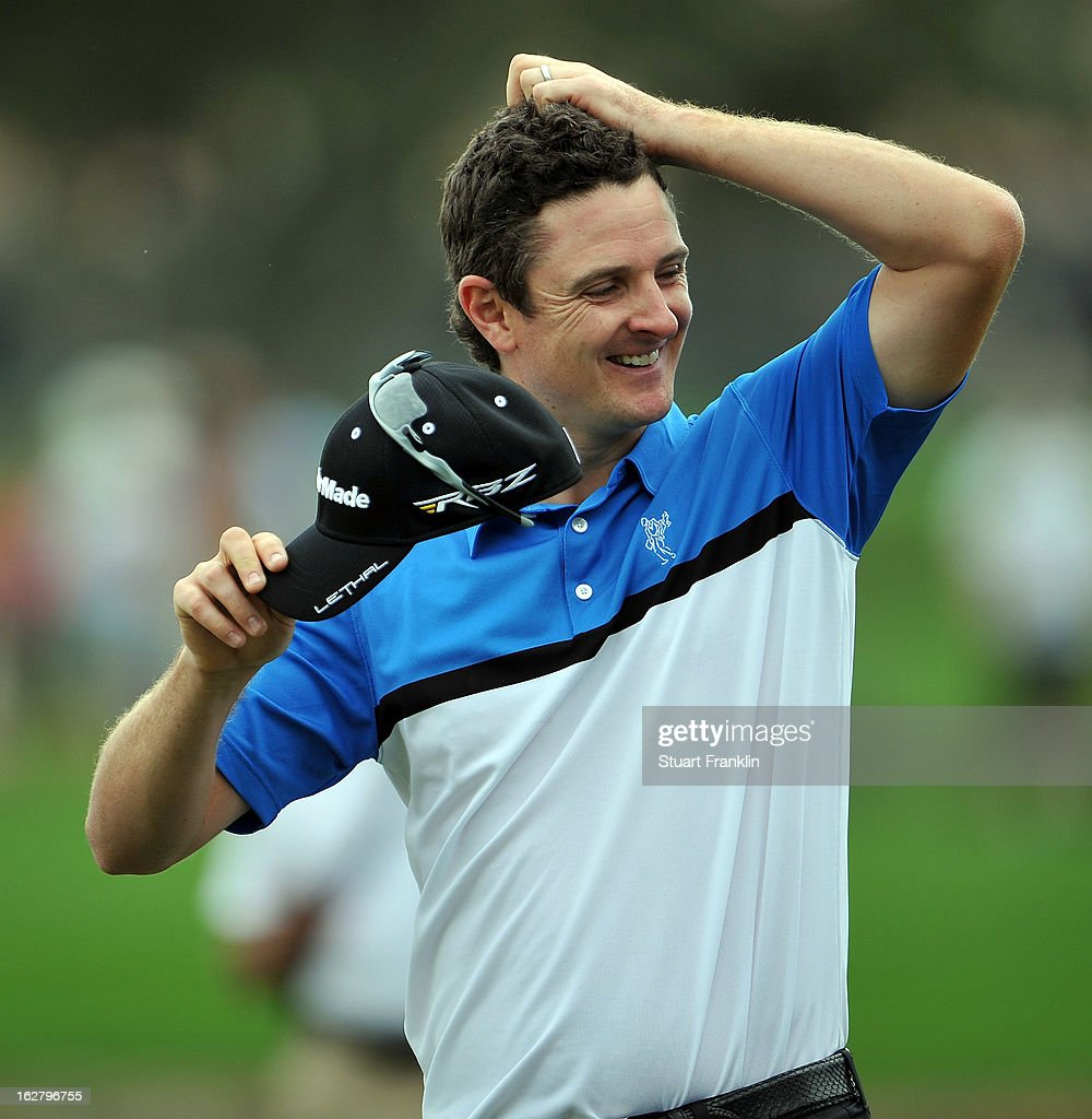 <a gi-track='captionPersonalityLinkClicked' href=/galleries/search?phrase=Justin+Rose&family=editorial&specificpeople=171559 ng-click='$event.stopPropagation()'>Justin Rose</a> of England ponders during the pro am of the Honda Classic at PGA National on February, 2013 in Palm Beach Gardens, Florida