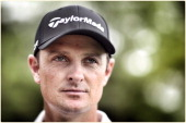 Justin Rose of England poses for a portrait during a practise round for the Wells Fargo Championship at the Quail Hollow Golf Club on April 29 2014...