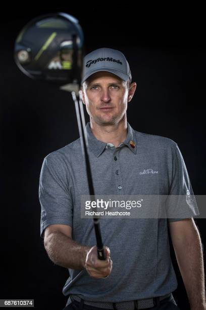 Justin Rose of England poses for a portrait during the BMW PGA Championship ProAM at Wentworth on May 24 2017 in Virginia Water England