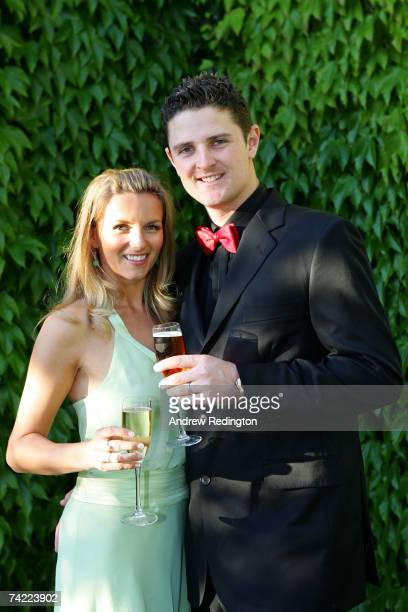 Justin Rose of England poses with his wife Kate at the Tour Dinner prior to the BMW Championship at The Wentworth Club on May 22 2007 in Virginia...