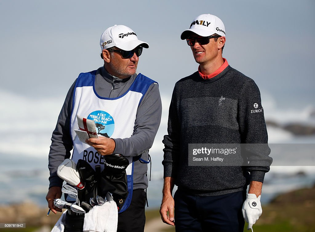 <a gi-track='captionPersonalityLinkClicked' href=/galleries/search?phrase=Justin+Rose&family=editorial&specificpeople=171559 ng-click='$event.stopPropagation()'>Justin Rose</a> of England prepares to play his tee shot on the 13th hole during the second round of the AT&T Pebble Beach National Pro-Am at the Monterey Peninsula Country Club (Shore Course) on February 12, 2016 in Pebble Beach, California.