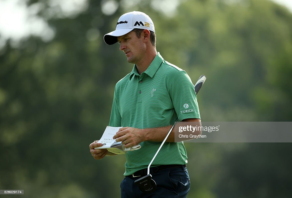 <a gi-track='captionPersonalityLinkClicked' href=/galleries/search?phrase=Justin+Rose&family=editorial&specificpeople=171559 ng-click='$event.stopPropagation()'>Justin Rose</a> of England prepares to putt on the 11th hole during a continuation of the first round of the Zurich Classic of New Orleans at TPC Louisiana on April 29, 2016 in Avondale, Louisiana.