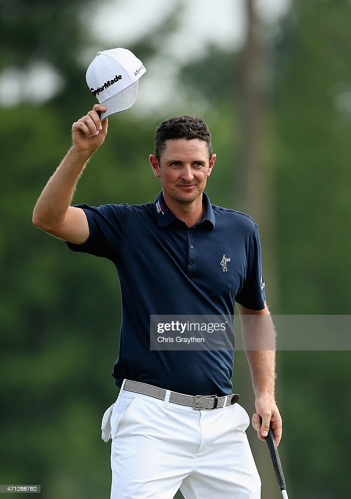 Justin Rose of England reacts after putting in for a birdie to win on the 18th hole during the final round of the Zurich Classic of New Orleans at TPC Louisiana on April 26, 2015 in Avondale, Louisiana.
