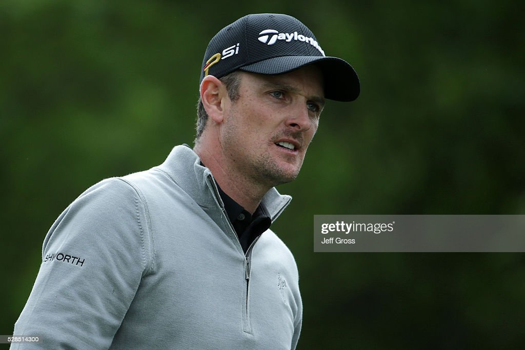Justin Rose of England walks off the fourth tee during the first round of the Wells Fargo Championship at Quail Hollow on May 5, 2016 in Charlotte, North Carolina.