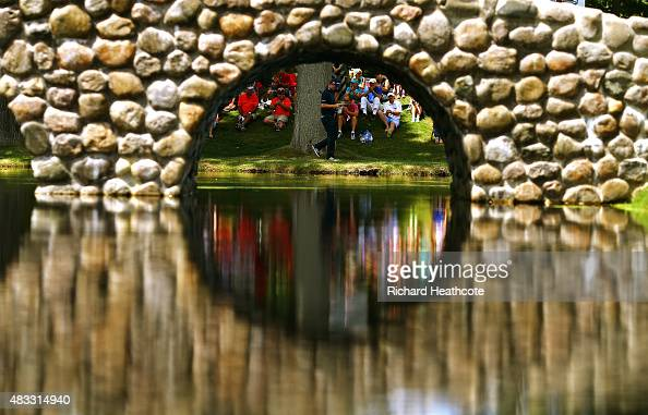 Justin Rose of England walks to the third green during the second round of the World Golf Championships Bridgestone Invitational at Firestone Country...