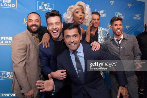 Justin Russo Jorge Bustillos Peppermint Mark Consuelos Patrick Mcdonald and Cheyenne Parker attend Logo TV Fire Island Premiere Party at Atlas Social...