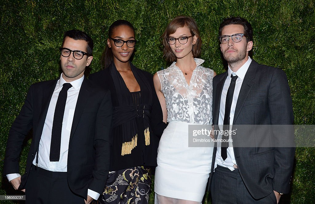 Justin Salguero, Jourdan Dunn, Karlie Kloss and Daniel Silberman attend The Ninth Annual CFDA/Vogue Fashion Fund Awards at 548 West 22nd Street on November 13, 2012 in New York City.