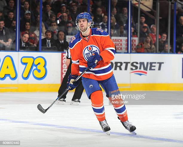 Justin Schultz of the Edmonton Oilers skates during a game against the Toronto Maple Leafs on February 11 2016 at Rexall Place in Edmonton Alberta...