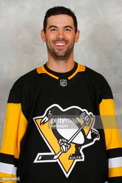 Justin Schultz of the Pittsburgh Penguins poses for his official headshot for the 20172018 season on September 14 2017 at the UPMC Lemieux Sports...