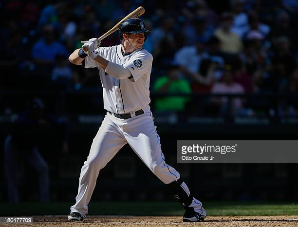 Justin Smoak of the Seattle Mariners bats against the Tampa Bay Rays at Safeco Field on September 8 2013 in Seattle Washington