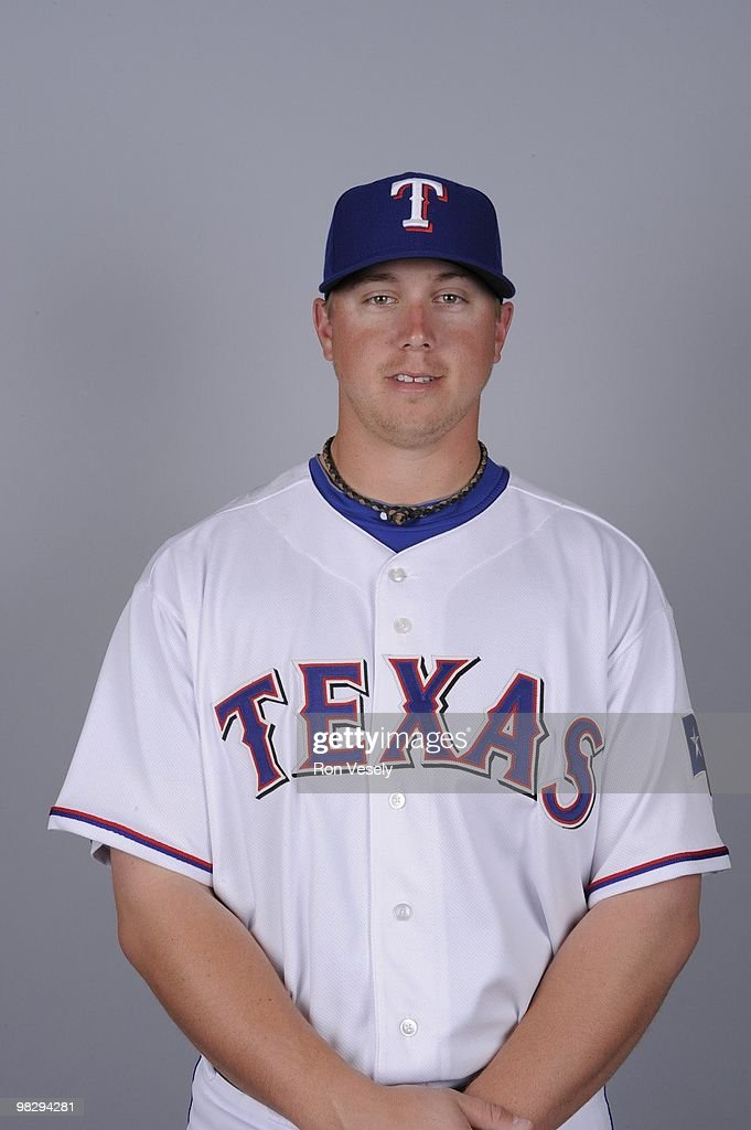 Justin Smoak of the Texas Rangers poses during Photo Day on Tuesday, March 2, 2010 at Surprise Stadium in Surprise, Arizona.