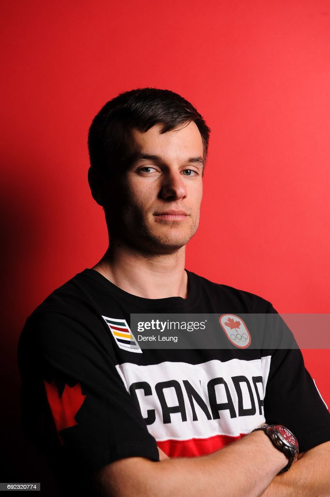 Justin Snith poses for a portrait during the Canadian Olympic Committee Portrait Shoot on June 4, 2017 in Calgary, Alberta, Canada.
