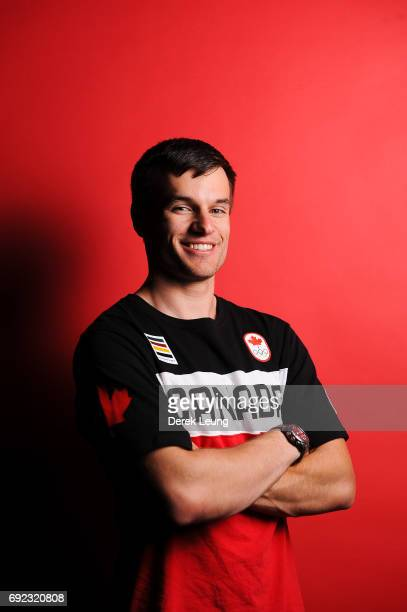 Justin Snith poses for a portrait during the Canadian Olympic Committee Portrait Shoot on June 4 2017 in Calgary Alberta Canada