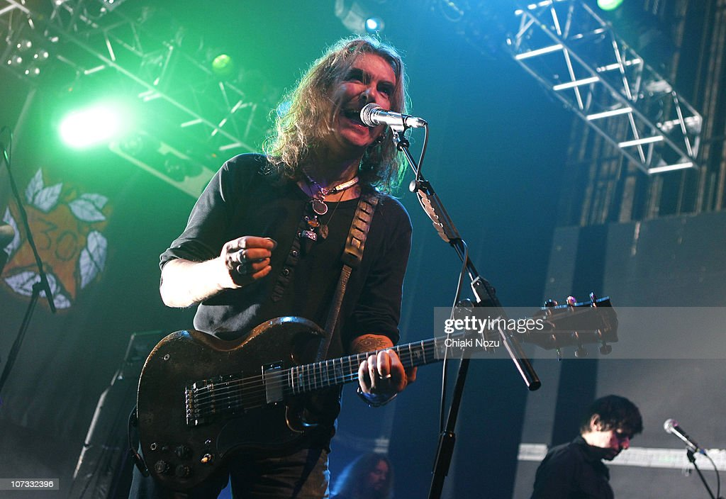 Justin Sullivan and Nelson of New Model Army perform at The Forum on December 4 2010 in London England