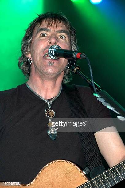 Justin Sullivan of New Model Army during New Model Army in Concert at The Astoria in London October 15 2005 at London Astoria in London Great Britain