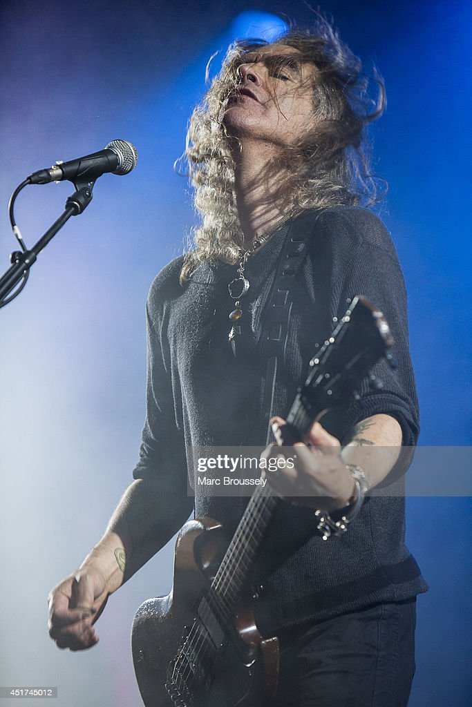 Justin Sullivan of New Model Army performs on stage at Sonisphere at Knebworth Park on July 5 2014 in Knebworth United Kingdom