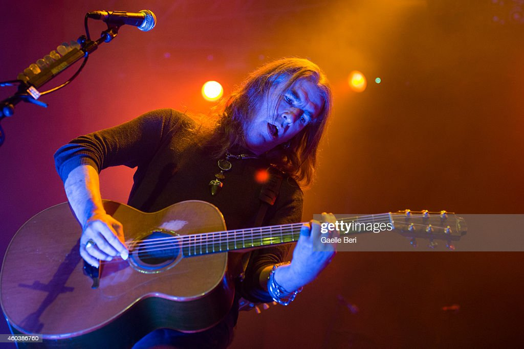 Justin Sullivan of New Model Army performs on stage at The Forum on December 12 2014 in London United Kingdom
