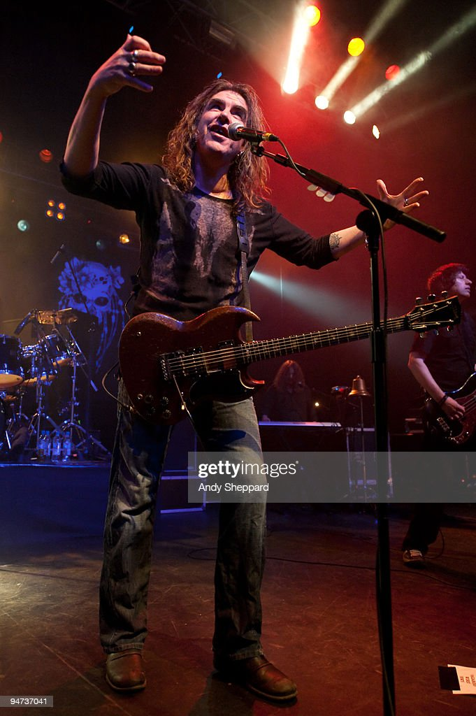 Justin Sullivan of New Model Army performs on stage at The Forum on December 17 2009 in London England